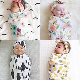 Baby Swaddle Sacks with Matching Headbands