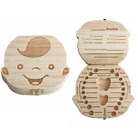 Wooden Baby Tooth Keepsake Boxes