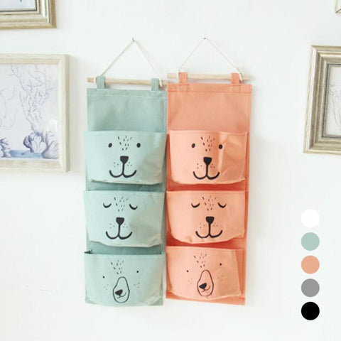 Cute Canvas 3-Pocket Organizer