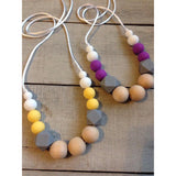 Stylish Teething Necklace - PB and Apple Jelly