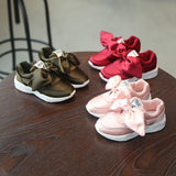 Kid Fashion Sneakers with Bow (Sizes 9-4) - PB and Apple Jelly