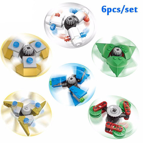 6-Pack DIY Fidget Spinners