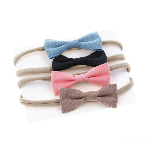 4Pcs Baby Bow Headbands
