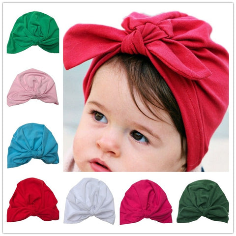 Baby Turban with Bow (for sizes 3-18 months) - PB and Apple Jelly