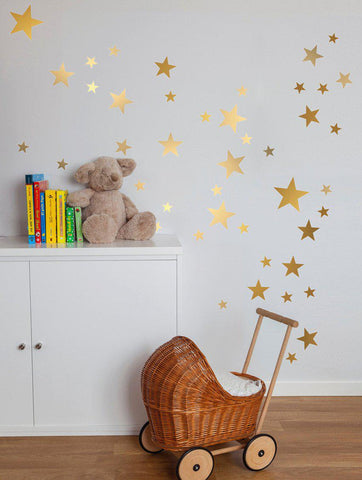 150pcs (3 Sizes) Gold Star Wall Stickers - PB and Apple Jelly