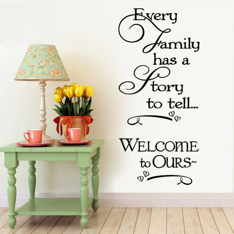 """Every Family Has a Story"" Wall Sticker - PB and Apple Jelly"