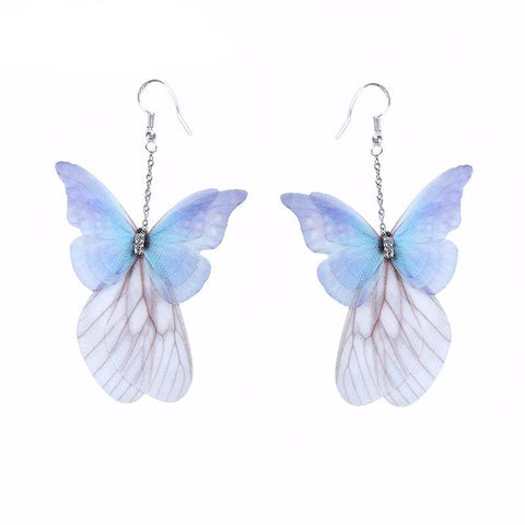 Hand-Made Ethereal Butterfly Drop Earrings - PB and Apple Jelly