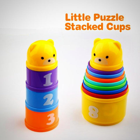 Cute Letters and Numbers Stacking Cups