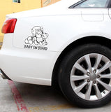 Adorable Baby on Board Car Decal - PB and Apple Jelly