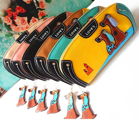 Cute Dog PU Leather Wallets