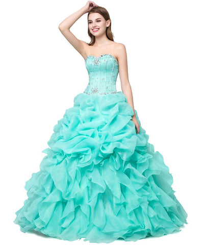 Sweetheart Neck Jeweled Organza Princess Ballgown (US Sizes 6-16) - PB and Apple Jelly
