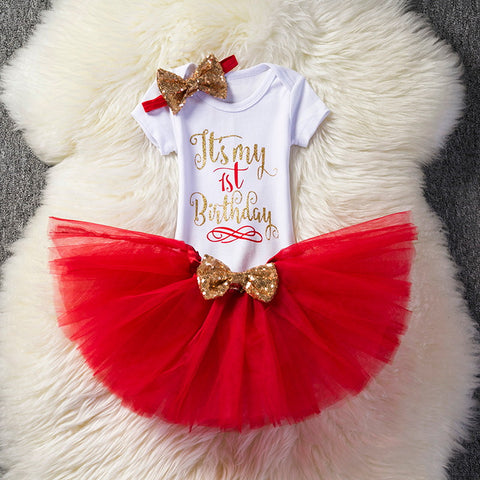 Baby Girl's 1st Birthday Tutu Outfits