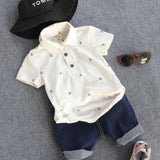 Polo Shirt and Shorts Set (US Sizes 2T-6) - PB and Apple Jelly
