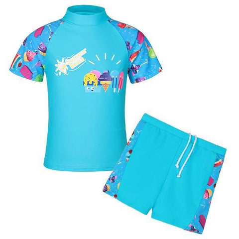 Cute Prints Boy/Girl Rash Guard Swim Suits (Fit Ages 3-10) - PB and Apple Jelly