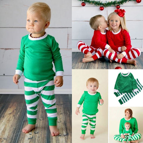 Image of Candy Cane Pajamas (US Sizes 12M-4T))