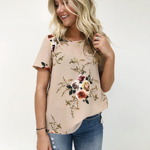 Floral Chiffon Blouses (US Sizes XS-2XL) - PB and Apple Jelly