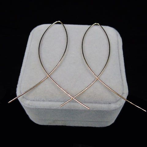 Simple Loop Earrings - PB and Apple Jelly