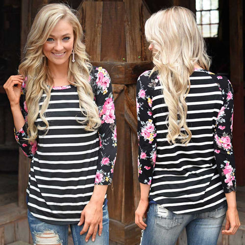 Floral Baseball Tees (US Sizes XXS-XL)
