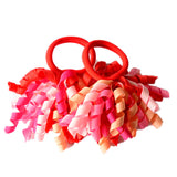 2 Pcs. Curly Ribbon Hairbands - PB and Apple Jelly