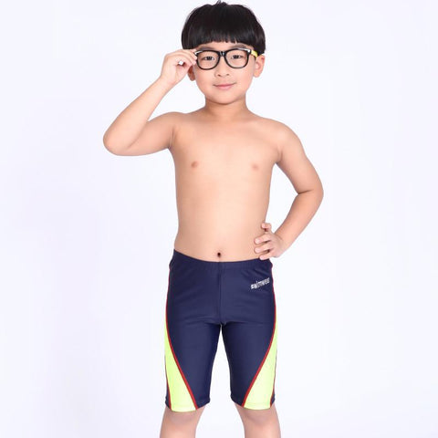 Boys Patchwork Swim Trunks (Sizes for 33-77 Pounds) - PB and Apple Jelly