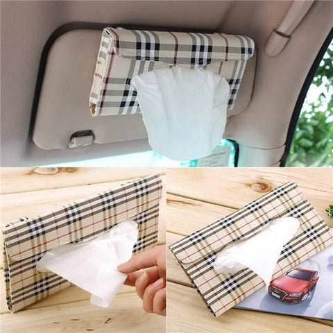 PU Leather Car Visor Tissue Box - PB and Apple Jelly