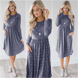 *Three Styles* Super Cute Midi Dresses with Pockets (US Sizes S-XL)