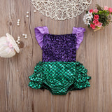 Sequined Mermaid Romper (US Sizes 6-24 Months)