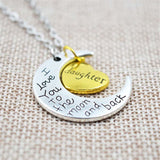'I Love You To The Moon And Back' Family Necklaces - PB and Apple Jelly