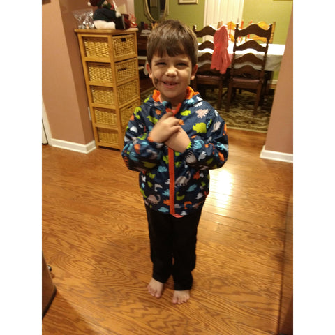 Printed Light-Weight Windbreaker Jackets (Sizes 24 month-6T)