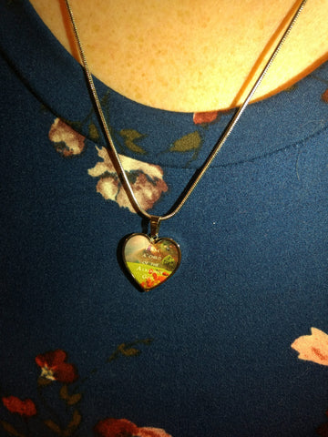 "Image of ""I Am a Child"" Luxury Necklace and Heart Pendant - Colorful"