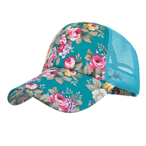 Colorful Floral Mesh Baseball Caps - PB and Apple Jelly