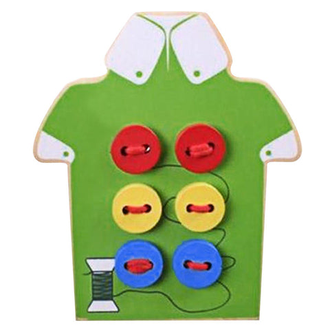 Wooden Shirt with Buttons and String - PB and Apple Jelly