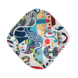 Reusable Waterproof Cloth Menstrual Pads with Snap Wings For Light Flow - PB and Apple Jelly