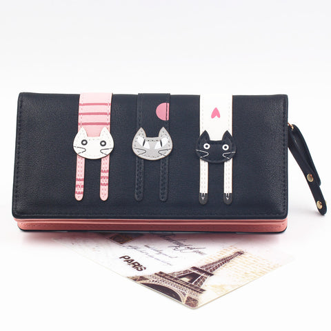 Cute Cat PU Leather Wallets - PB and Apple Jelly