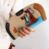 Cute Dog PU Leather Wallets - PB and Apple Jelly