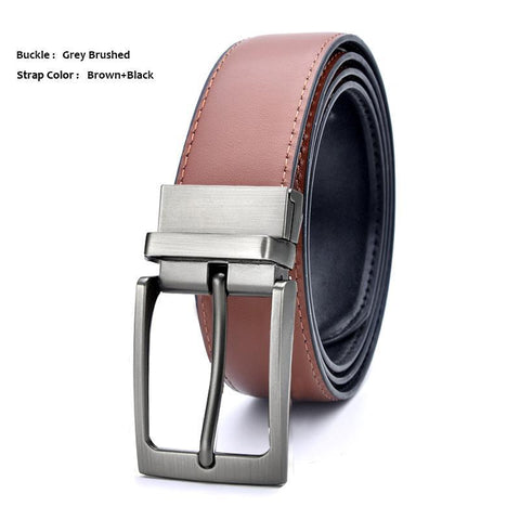 Formal Leather Two-Tone Reversible Belts