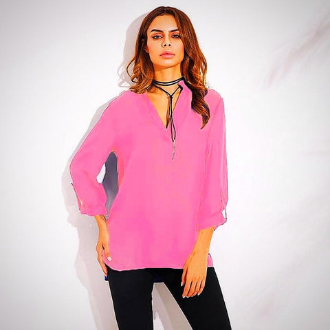Chiffon V-Neck Blouses (Sizes 4-20) - PB and Apple Jelly