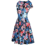 Blue Floral Print A-Line Dresses (US Sizes  0-16) - PB and Apple Jelly
