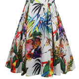 Tropical Print A-Line Dress (US Sizes 14-22) - PB and Apple Jelly