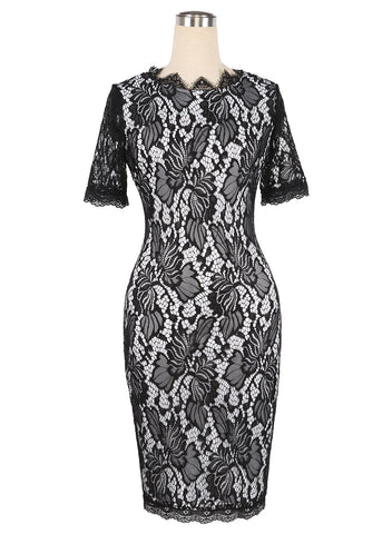 Elegant Patchwork Lace Sheath Dresses (US Sizes 2-14) - PB and Apple Jelly