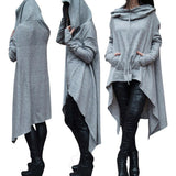 Warm, Thick Oversized Hooded Tunic (US Sizes S-4XL) - PB and Apple Jelly
