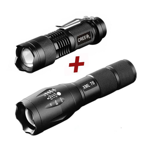 T6 Tactical Flashlight/Q5 Torch Flashlight - PB and Apple Jelly