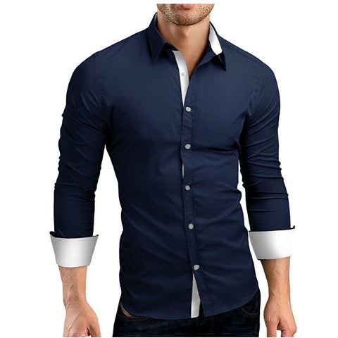 Stylish 2-Color Button-Down Shirts (Reg. and Plus Sizes) - PB and Apple Jelly
