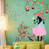 Flower Fairy Girl Wall Stickers - PB and Apple Jelly