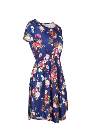 Cute Floral Knee-Length Dress with Pockets (US Sizes S-XL) - PB and Apple Jelly
