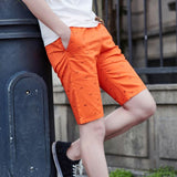 Comfortable Elastic Bermuda Shorts with Fish Detailing (US Sizes XXS-XL) - PB and Apple Jelly