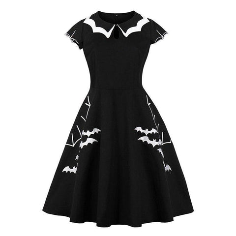 Black A-Line Bat Dress (US Sizes 12-20)