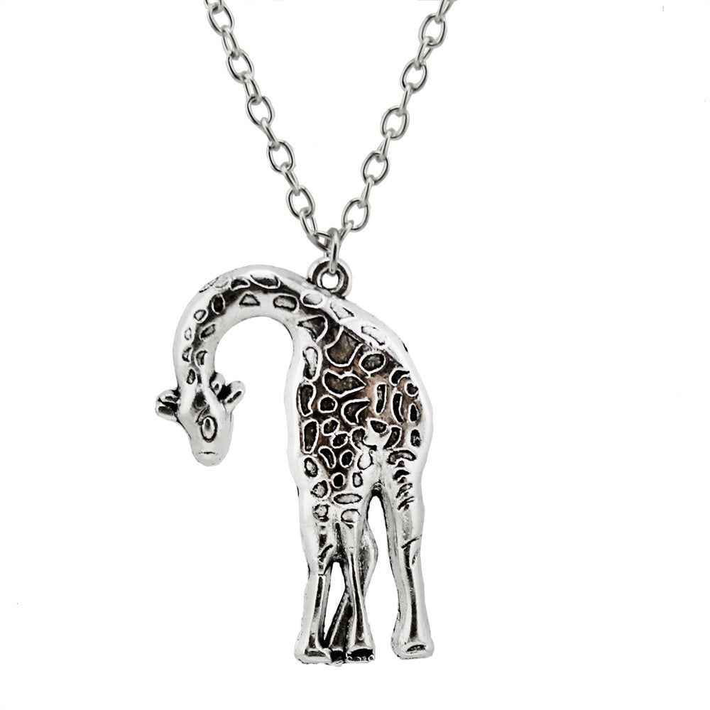 charm elizabeth giraffe gold products mei necklace pendant