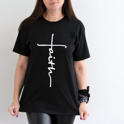 Lovely Faith/Jesus Cross T-Shirts (US Sizes XS-XXL)