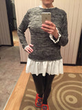 Cute Faux-Layer Gray Sweater (US Sizes S-XL) - PB and Apple Jelly